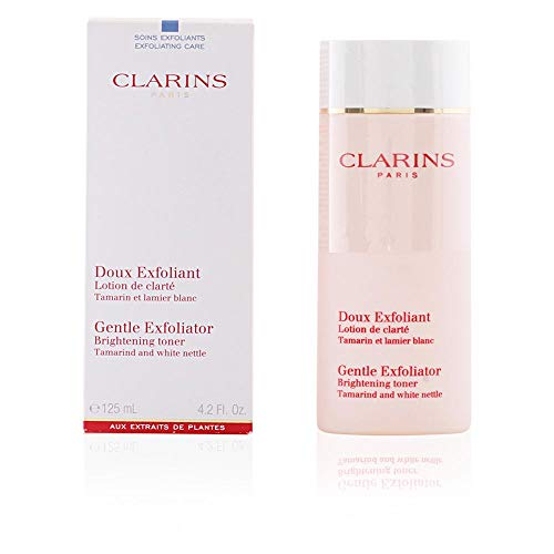 - Clarins Gentle Exfoliator Brightening Toner, 4.2 Ounce