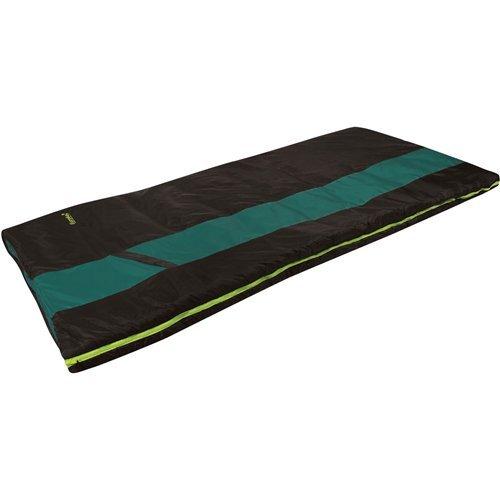 Eureka! Sandstone 45 Degree Rectangular Sleeping Bag; Warm, Comfortable, Lightweight Three-Season, Thermally Efficient Bag for Car and Tent Camping – Regular – Green/Brown