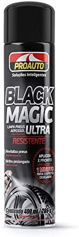 Limpa Pneus Aerossol Black Magic Proauto 400 ml