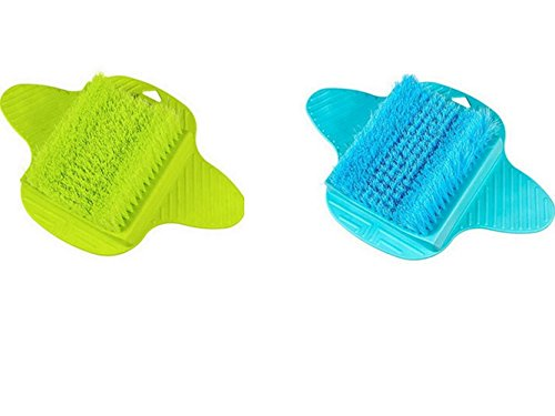 BESTOMZ Foot Scrubber Cleaner Washer Massage Brush Feet Exfoliating Cleaning SPA Brush for Shower Bathroom (Random Color) by BESTOMZ