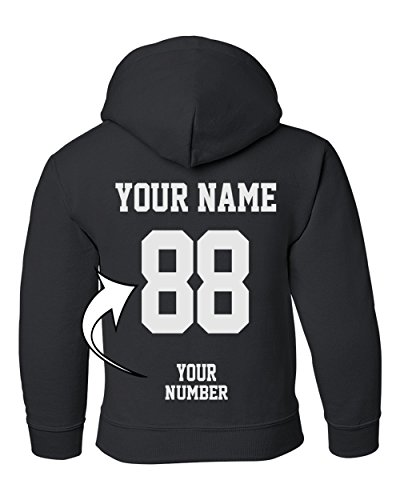 Tee Miracle Custom Hoodies For Youth - Design Your Own Jersey - Pullover Hooded Team Sweaters ()