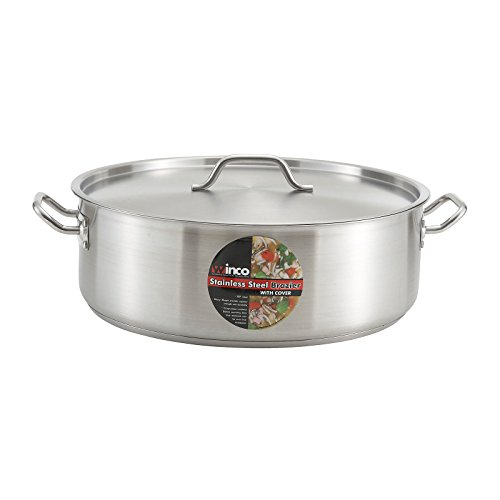 Winware Stainless Steel 25 Quart Brasier with Cover by Winware