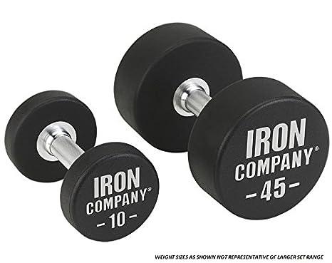Hierro empresa comercial acero sólido uretano Juego de mancuernas – 130 A 150 kg (5