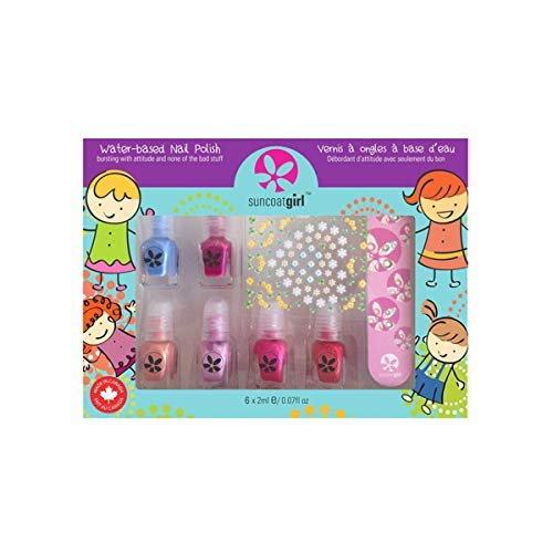 Suncoat Product Inc. Non Toxic Peelable Children's Nail Polish Set, Mini Mani