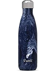 S'well Stainless Steel Water Bottle - 17 Fl Oz - Azurite Marble - Triple-Layered Vacuum-Insulated Containers Keeps Drinks Cold for 36 Hours and Hot for 18 - with No Condensation - BPA-Free