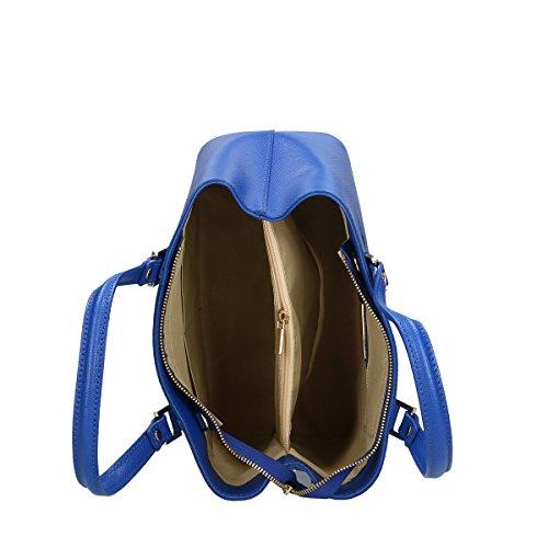 Cm Genuina Borse Bandolera Azul Piel 30x22x14 Chicca XwfqagxOHX