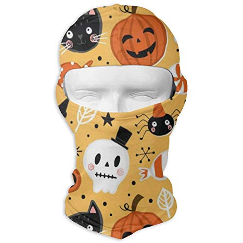 Balaclava Vintage Spooky Happy Halloween Cat Pumpkin Boo Full Face Masks UV Protection Ski Hat Mask Motorcycle Neck Warmer Hood for Cycling Hiking Women Men Youth ()