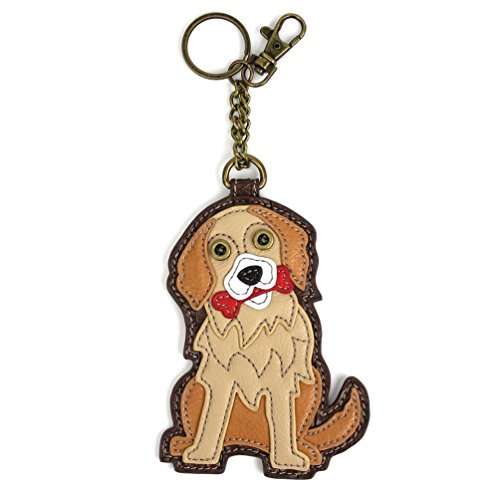 Charm Key Fob (Chala Pal Bag Charm/ Key-Fob/ Coin Purse- Men's Best Friend Collection (Golden Retriever))