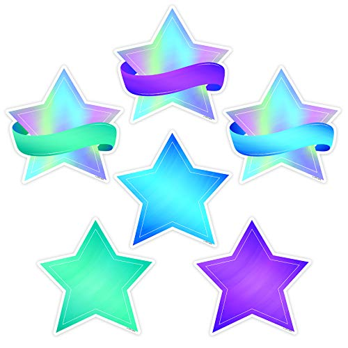 (Creative Teaching Press Mystical Magical Shimmering Stars Cut Outs, 6 in, CTP 8661)
