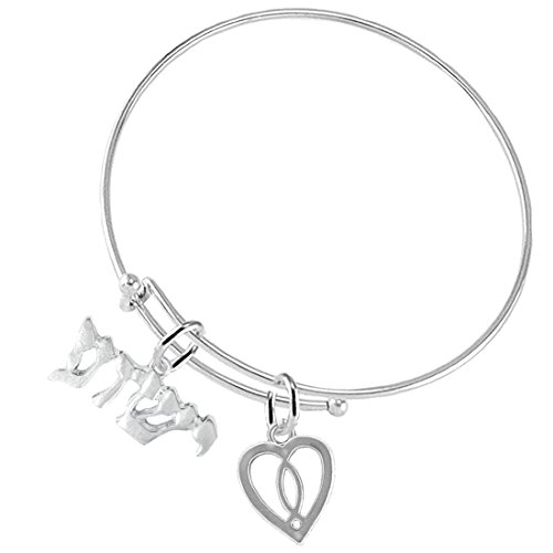 Cardinali Jewelry Yeshua, (Jesus in Hebrew) Named by an Angel of God, with A Heart Enclosing A Jesus Fish-Hypoallergenic Adjustable Bracelet, Safe-Nickel, Lead Free (Meaning Of The Name Karen In Hebrew)