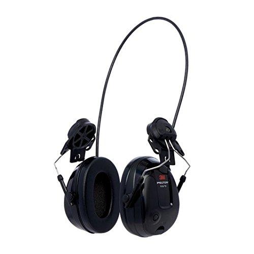 3M 12318 PELTOR ProTac III Slim Headset, Hard Hat Attached, One Size, (Peltor Hard Hat)