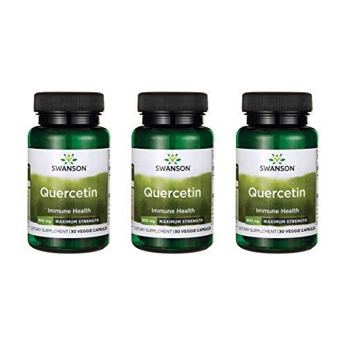Swanson Quercetin – Maximum Strength 800 mg 30 Veg Caps 3 Pack