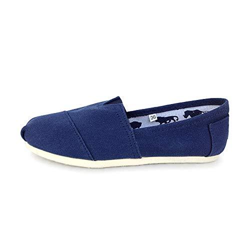 Toile Aide Doux Loisir Vite Chaussures Confortable Sport Appartement Pied Antidérapant Un Femmes Été Aux Blue De Respirant Faible Portant C0SnwStq6