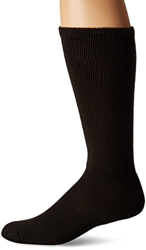 (Thorlos Unisex WGXS Uniform Padded Crew Sock, Black, XLarge)