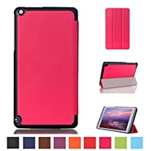 NVIDIA SHIELD Tablet K1 Leather Case,8 Nvidia Shield Tablet Case,[Full Protection]Anti-Scratch & Folio Folding Cover for Nvidia Shield 2015 / 2014 NVIDIA Shield 2 Tablet 8.0-Inch-Rose