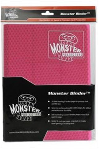 onster Binder - 9 Pocket Trading Card Album - Holofoil Pink - Holds 360 Yugioh, Magic, and Pokemon Cards by Monster Protector