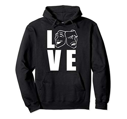 Surrealist Theatre Costumes - Theatre Tragedy and Comedy Mask Hoodie