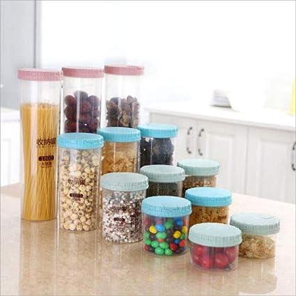 7b73c211fc6a Amazon.com: 2018 Plastic Food Cereal Grain Bean Rice Storage Box ...