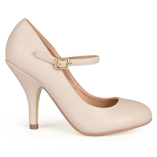 Journee Collection Womens Patent Round Toe Mary Jane Pumps Nude Matte IV6wLT63aO
