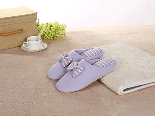 In Casa Fondo Di Purple Huaix Pavimento Silenzioso Giapponese Size Antiscivolo Morbido Cotone Scarpe Stile Inverno Invernali 3 Paio Home Spessore Caldo Pantofole Femminile Purple color xqA0AX8