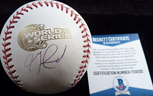Authentic Beckett Jon Garland Autographed Signed-Autographed Signed 2005 World Series Game Baseball 59335