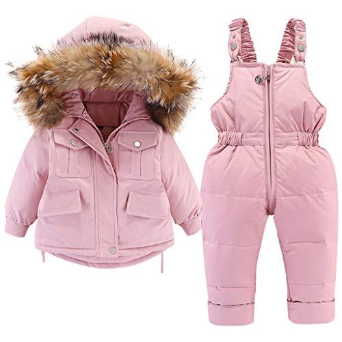 Minizone Kids Snowsuit Winter Hooded Donsjack + Sneeuwbroek 2 STKS Baby Meisjes Lichtgewicht Modieus Skipak voor Peuter…