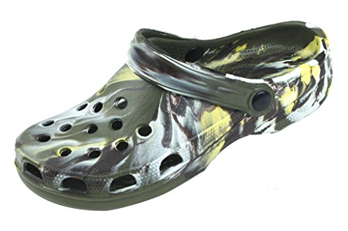 Colours 4 Shoes Clog Garden In New Women's Sandales Available Camo Sandals nq8zx6BwWT