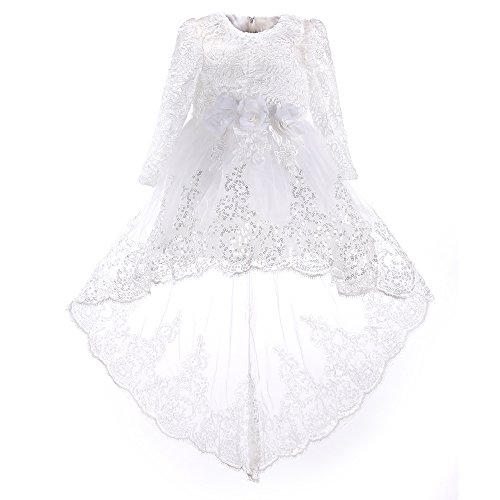 4t flower girl dress white - 7