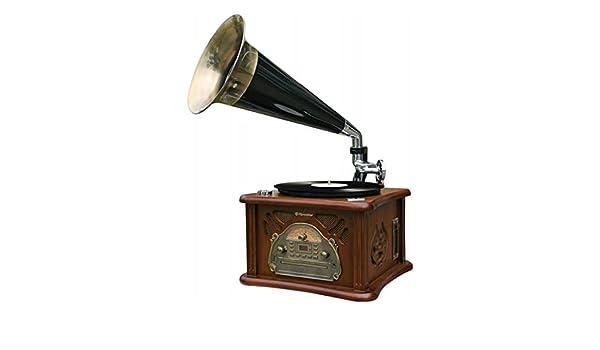 Roadstar Tocadiscos retro hif1850tumpk CD/Tape/USB madera: Amazon ...