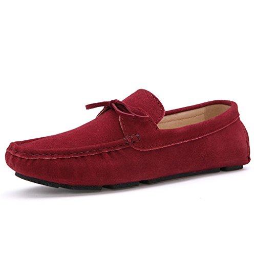 Casual Shoes scuro scamosciata blu On uomo Scarpe Slip Mocassini pelle Mocassini Red in per Homme Uomo Hombre Fluores qzwSnfxt7