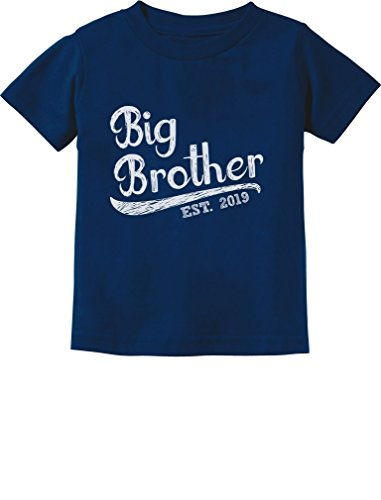 Tstars - Gift for Big Brother 2019 Siblings Gift Toddler Kids T-Shirt 3T Navy (Best Big Brother Tshirt)
