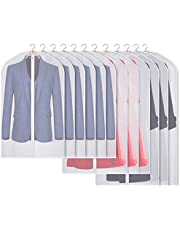 Kntiwiwo Clear Suit Bags for Men Closet Moth-Proof Garment Bags for Storage for Suit Coat Dress Closet Storage, Set of 12