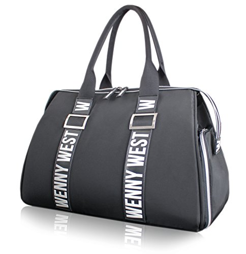 Breast Pump Bag by Wenny West - 2018/19 Limited Luxury Diaper Bag for Moms (Black/White)