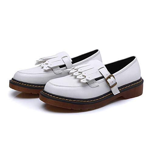 Urban Outfitters Leather Moccasins - Woman Oxford Shoes Casual Leather Women Flats Ladies British Style Moccasins Casual Work Loafers Shoes White