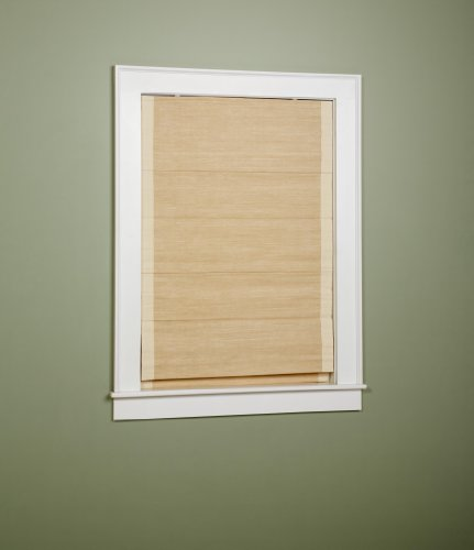 Green Mountain Vista Thermal  Cordless Woven Roman Shade, 36 by 63-Inch, Sand Border ()