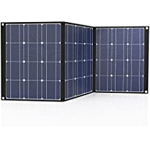 Tishi Hery Solar Panel Charger, 100 Watts 18 Volts 12 Volts Portable Solar Charger Foldable Monocrystalline Solar Panel Charger with MC4 Connector for Outdoors, Camping, Solar Generator, RV, Boat