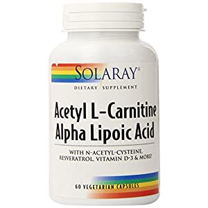 Solaray Acetyl L Carnitine and Ala Supplement, 60 Count