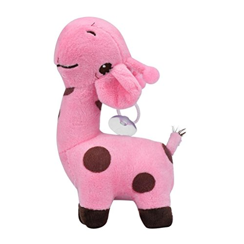 Elaco Cute Plush Giraffe Toys Soft Animal Dear Doll Toy for Baby Kids Girls Birthday Gift (Pink)