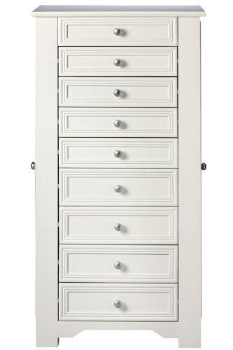 Eight Drawer Armoire (Oxford Jewelry Armoire, 8-DRAWER, WHITE)