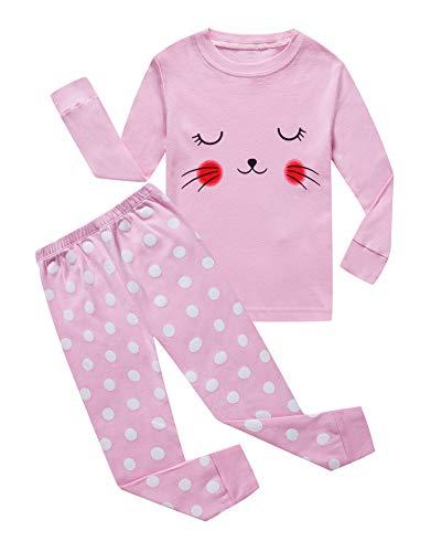 Toddler Girls Long Sleeve Pajamas - Little Girls Long Sleeve Pajamas Sets 100% Cotton Pyjamas Toddler Kids Pjs Size 2T Pink