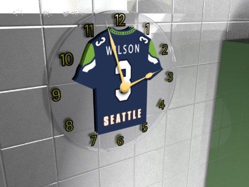 Seattle Seahawks - PERSONALISED Wall Clock