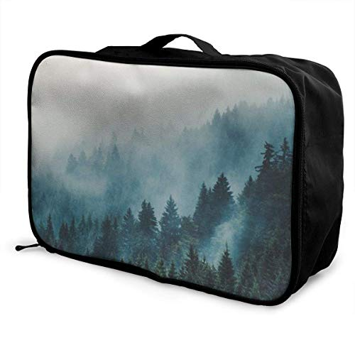 Portable Luggage Duffel Bag Nature Travel Bags Carry-on In Trolley Handle