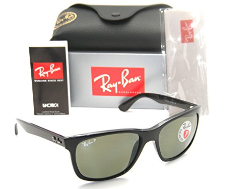 Authentic Ray-Ban Highstreet RB 4181 601/9A 57mm Black / Green - Polarized Rb4181