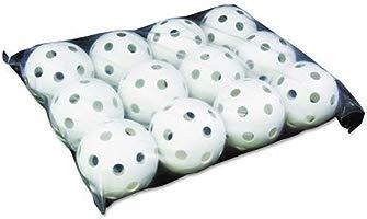 9-Inch White Pack of 12 Champion Sports Plastic Wiffle Ball Baseballs
