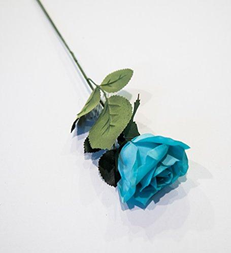HungEnterprises DL82001 Artificial Rose, 12 Pack (Turquoise)