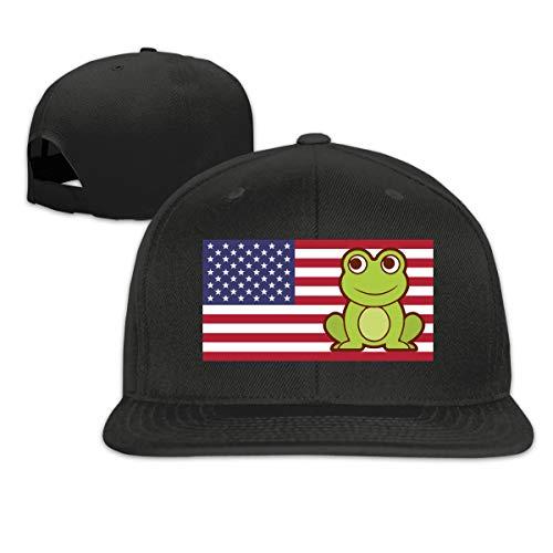 BQL34AA American Cartoon Frog Men&Women Baseball Cap, Adult Hiphop Trucker Caps - Frogman Clothing