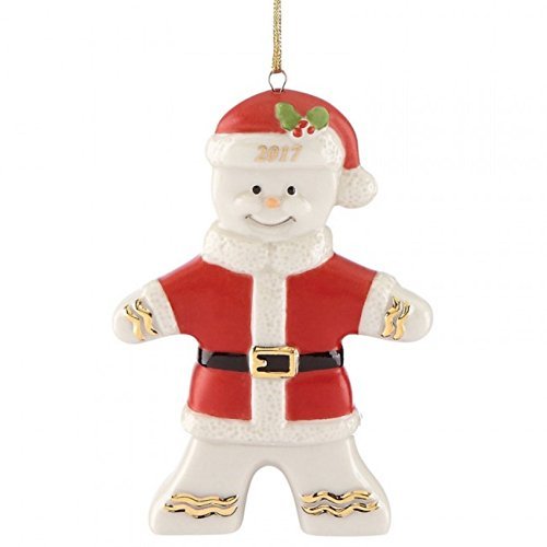 Lenox 2017 Gingerbread Man Ornament Figurine Annual Ginger Santa Claus Christmas