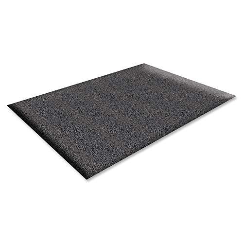 Genuine Joe Anti-Fatigue Mat, Nitrile Rubber/Vinyl, 3 by 5-Feet, Black