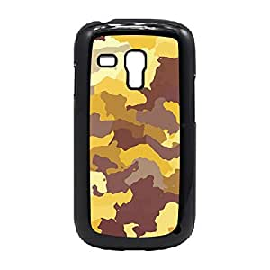 Case Fun Case Fun Yellow Camouflage Snap-on Hard Back Case Cover for Samsung GalaxyS3 Mini (I8190)