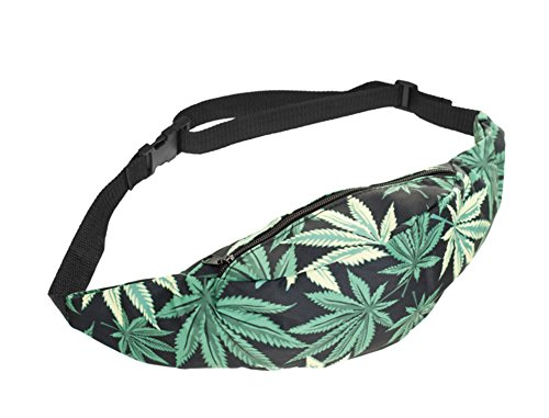 [FESTIE FEVER Rave Fanny Pack (Weed)] (Weed Bag Costume)